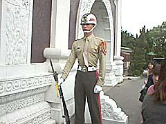 忠烈祠の兵士